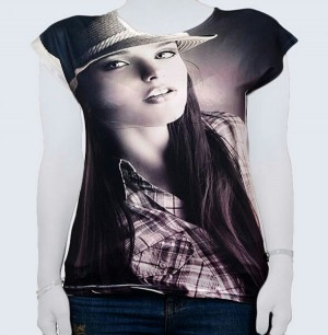 تی شرت تصویری زنانه کد 0110