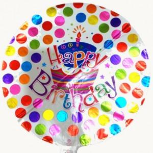 بادکنک فویلی گرد تولدت مبارک happy birtday-تصویر 2