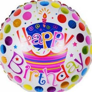 بادکنک فویلی گرد تولدت مبارک happy birtday