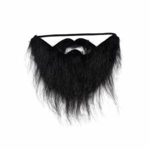 ریش و سیبیل نمایشی مدل ریش کوتاه سیاه دنیای سرگرمی های کمیاب-تصویر 2
