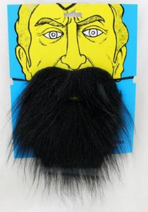 ریش و سیبیل نمایشی مدل ریش کوتاه سیاه دنیای سرگرمی های کمیاب