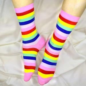 جوراب رنگین کمان