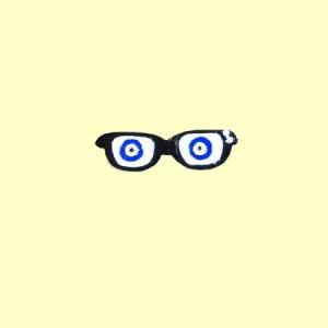 گل سینه نقره عینک مدل D301-تصویر 2