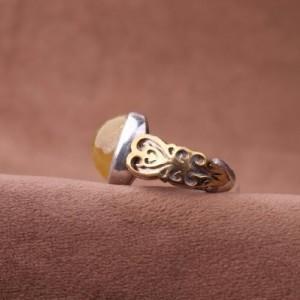 انگشتر یاقوت زرد اصل-تصویر 3