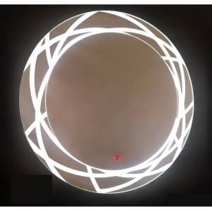 آینه تاچ دایره LED طرحدار کد 017