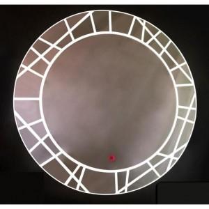 آینه تاچ دایره LED طرحدار کد 016
