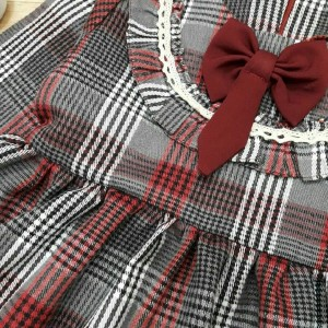 پیراهن پاییزه دخترانه کشمیر-تصویر 3