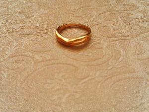 بند انگشتی استیل طلایی-تصویر 2
