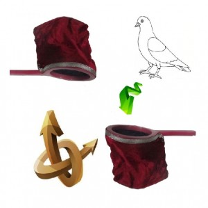 بزار شعبده بازی دنیای سرگرمی های کمیاب طرح کیسه راکت کبوتر غیب کن-تصویر 2