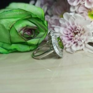 انگشتر نقره زنانه الکساندریت فوق العاده زیبا کد200-تصویر 3