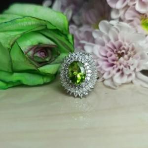 انگشتر نقره زنانه الکساندریت فوق العاده زیبا کد200