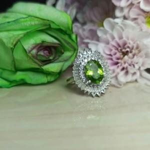 انگشتر نقره زنانه الکساندریت فوق العاده زیبا کد200-تصویر 2