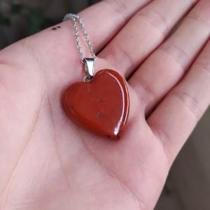 گردنبند سنگ جاسپر طرح قلب-تصویر 3