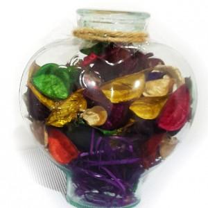 گل خشک کادویی طرح عشق مدل ظرف شیشه ای-تصویر 2