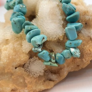 دستبند سنگ هائولیت آبی ولنتاین کد d153-تصویر 4