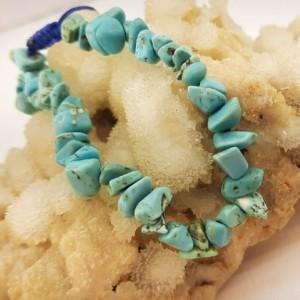 دستبند سنگ هائولیت آبی ولنتاین کد d153