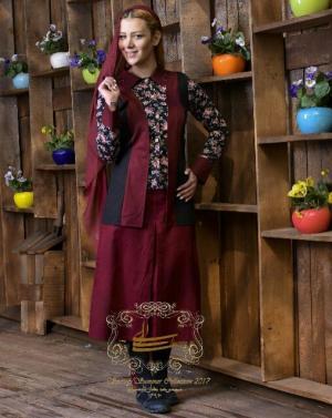 مانتو و دامن مه گل مدل ایرانی تابستان ۹۶