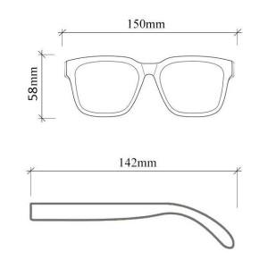 عینک آفتابی Ocean Sharp Black + کیف محافظ-تصویر 5