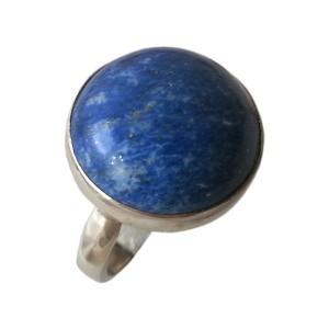 انگشتر نقره مدل سنگ لاجورد کد 6920