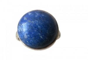 انگشتر نقره مدل سنگ لاجورد کد 6920-تصویر 2