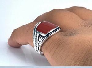 انگشتر اسپرت عقیق قرمز-تصویر 2