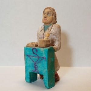 مجسمه چوبی ، آدمک چوبی ، داروساز ، دکتر داروساز ، داروسازی-تصویر 2
