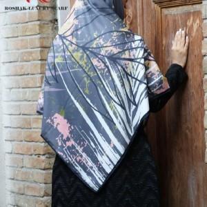 روسری نخی پاییزه طرحدار-تصویر 2