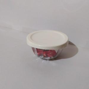 کاسه گرد شیشه ای دربدار کوچک لیمون