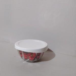 کاسه گرد شیشه ای دربدار کوچک لیمون-تصویر 4