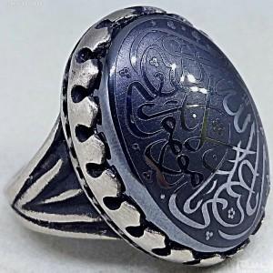 انگشتر لوکس حدید یا امیرالمونین-تصویر 4