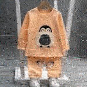 بلوز شلوار پنگوئن لپ صورتی-تصویر 3