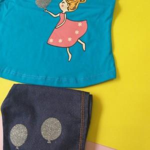 تیشرت شلوارک دخترانه عروسکی-تصویر 3