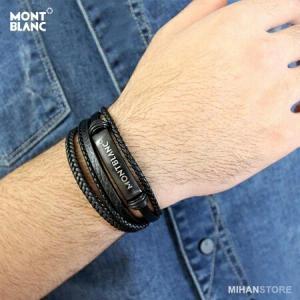 دستبند چرم طرح Montblanc-تصویر 4