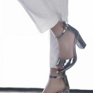 کفش مجلسی نقره ای و طلایی-تصویر 2