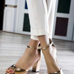 کفش مجلسی نقره ای و طلایی