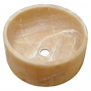 کاسه روشویی سنگی مرمر پرتقالی رینگی