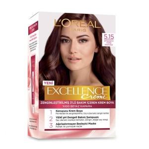 کیت رنگ موی لورآل پاریس مدل Excellence شماره 5.15