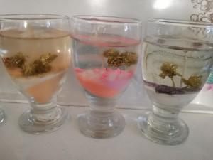 شمع ژله ای با گل اکلیلی-تصویر 3