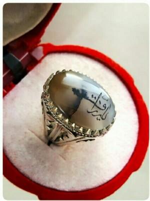 انگشتر نقره شجر اصل خط (کد۲۹۵۹)-تصویر 2