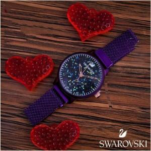 ساعت عقربه ای Swarovski طرح شنی-تصویر 2
