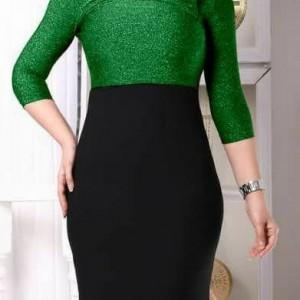 لباس مجلسی زنانه کوتاه جنس پارچه لمه