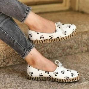 کفش تخت مدل میکی موس دور کنفی Ma