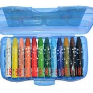 مداد شمعی طلقی ۱۲ رنگ