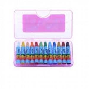 مداد شمعی طلقی ۱۲ رنگ-تصویر 2