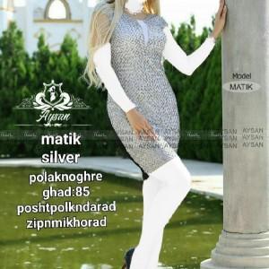 لباس ماتیک تونیک جنس کرپ کش-تصویر 3