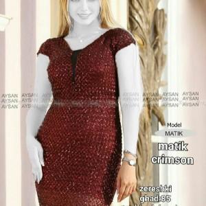 لباس ماتیک تونیک جنس کرپ کش-تصویر 2
