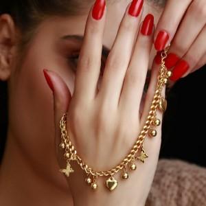 دستبند طرح طلا-تصویر 3