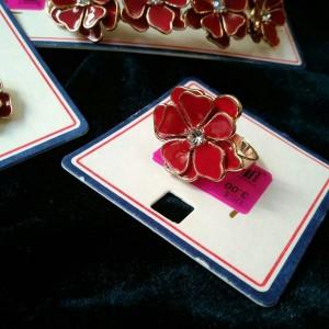 ست انگشتر , گوشواره و دستبند شکوفه-تصویر 2
