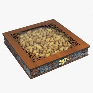 جعبه آجیل خشکبار جعبه پذیرایی جعبه چوبی کد LBL055