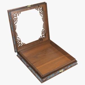 جعبه آجیل خشکبار جعبه پذیرایی جعبه چوبی کد LBL055-تصویر 2